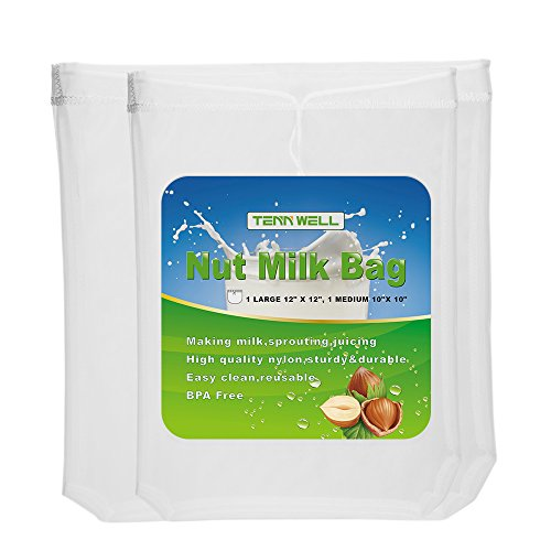 Tenn Well Nut Milk Bag,Commercial Food Grade Fine Nylon M...