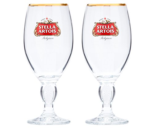 (Stella Artois 2-Pack Original Glass Chalice, 33cl)