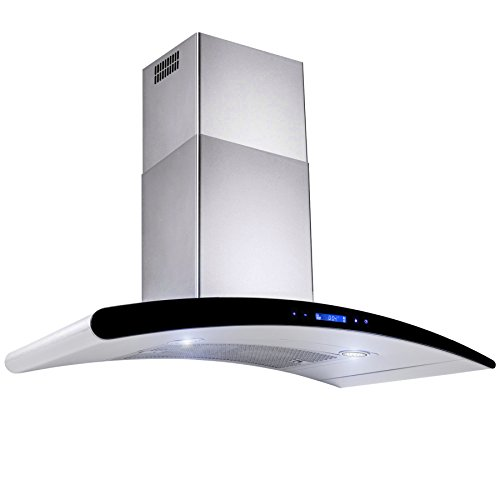 AKDY New 30″ European Style Wall Mount Stainless Steel Range Hood Vent Touch Control AZ-198KN3 30″
