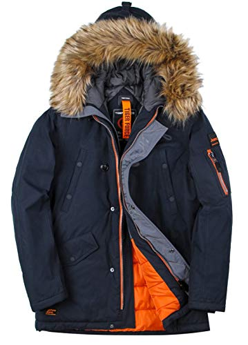 Halloween Winter Park (TIGER FORCE Parka Coat Winter Men Thicken Hooded Jacket Quilted Ski Snowjacket Extremely Cold Dark)