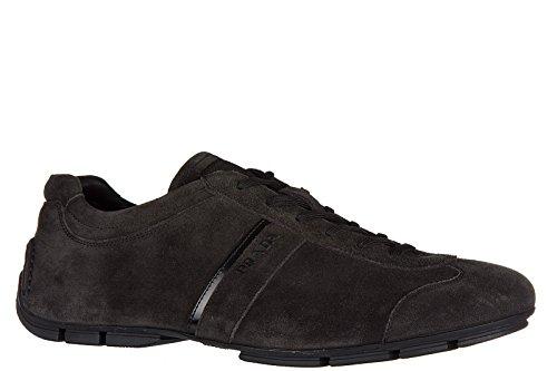 Prada Herenschoenen Suède Sneakers Sneakers Grijs