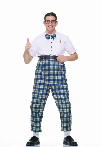 Forum Novelties Men's Fabulous 50's Class Nerd Costume, Multi, (Urkel Costumes)
