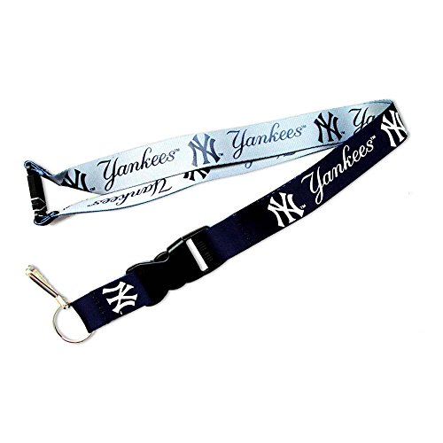 aminco MLB NY Yankees Reversible Clip Lanyard Keychain Id Ticket Holder