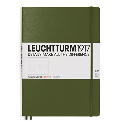 (Leuchtturm1917 Hardcover Master Slim Dotted Notebook Army)