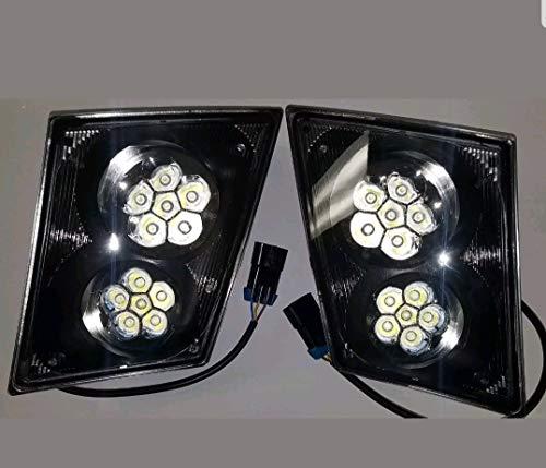 LED Volvo VN VNL Bumper Fog Light Lamp SET/PAIR Truck 2003 & Newer 630 670 730 780 ()