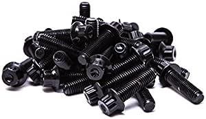 130 SRR Hardware Black Two Piece Split Rim Assembly Bolts M7 x 24mm 10.9 HT Steel for BBS RM OZ Wheels