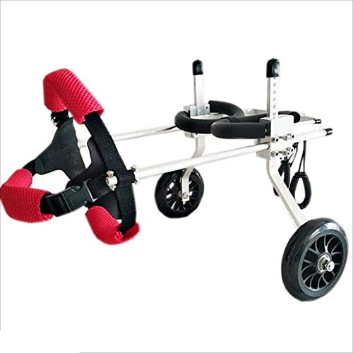 PLDDY Pet Wheelchair,Elderly, Dogs, Scooters, Disabled Dogs, Auxiliary, Leg Exercises, Dogs, Cats, Cars (Size : XXXS)