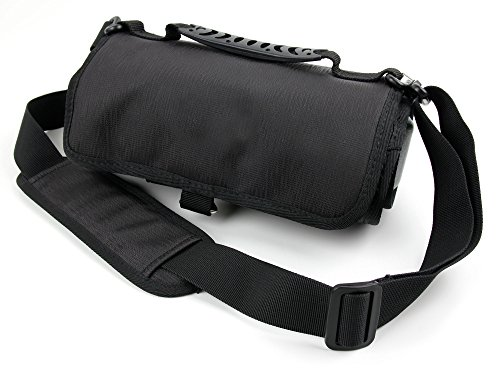 DURAGADGET Action Camera + Accessory Carry Case with Shoulder/Waist Strap and Hanging Hook - Compatible with Nuovo Mini Sport Action Camera R360
