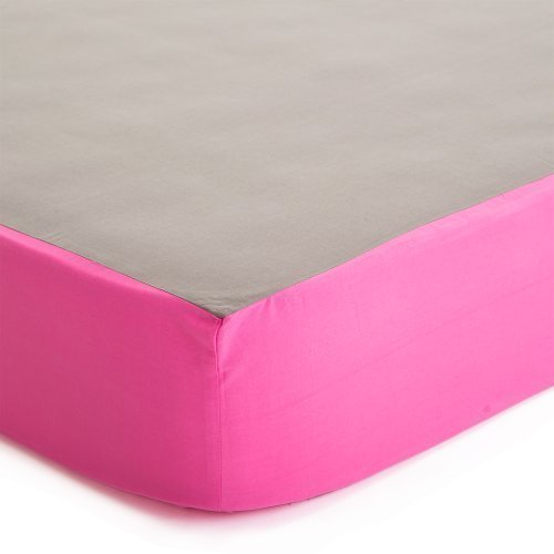 Baby Deedee Fitted Crib Sheet, Slate/Hot Pink by baby deedee [並行輸入品]   B015RYD974