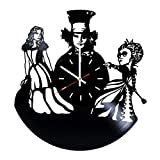 Everyday Arts Alice in Wonderland Walt Disney Pictures Design Vinyl Record Wall Clock - Get Unique Bedroom or Garage Wall Decor - Gift Ideas for Friends, Brother - Darth Vader Unique Modern Art