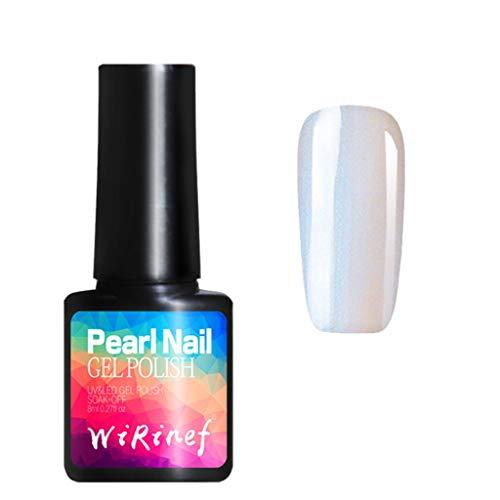 (Shirazawa Poly Gel Nail Polish Pearl Mermaid 8 Colors Lasting Finger Temperature Change Camouflage UV Lamp Extension Multicolored Shell Nail Polish Glue)