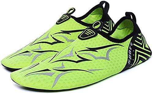 ウォーターシューズビーチソックスユニセックスアウトドアスポーツベアフットスキンソフトはビーチソックスアクア靴下ノンスリップ軽量スリップシューズ,グリーン,39