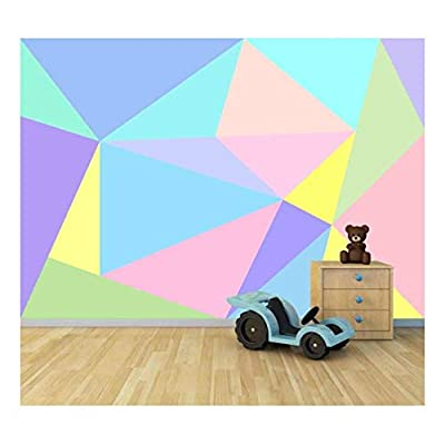 Delightful Portrait, Made With Love, Bright Candy Color Collage Large Wall Mural Removable Peel and Stick Wallpaper