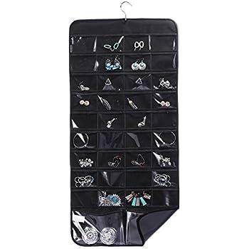 Amazoncom 66 Pocket Hanging Jewelry Organizer By Isaac Mizrahi New