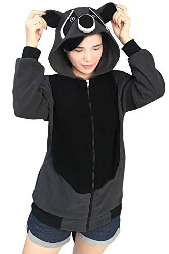 Lifeye Adult Raccoon Hoodie Animal Cosplay Costume