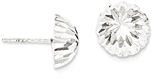 ICE CARATS 14k White Gold Half Ball Post Stud Button Earrings by ICE CARATS