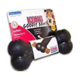 KONG - Extreme Goodie Bone - Durable Rubber Dog Bone for Power Chewers, Black - For Medium Dogs
