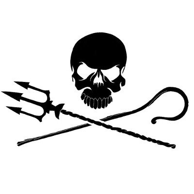 jolly roger car window decal - 9