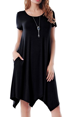 Invug-Women-Casual-Loose-Soft-Crewneck-Pockets-Stretchy-Swing-T-Shirt-Dress