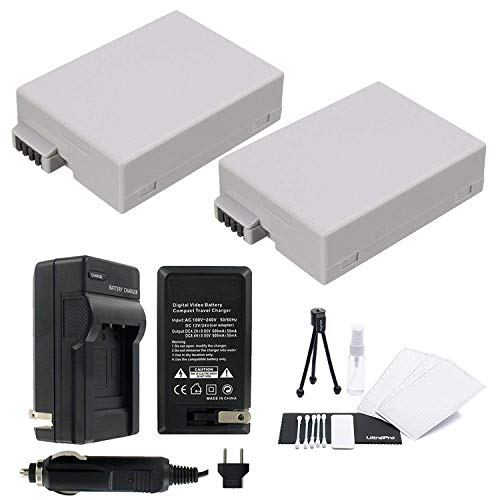 Ultrapro 2-Pack LP-E8 High-Capacity Replacement Batteries with Rapid Travel Charger for Canon EOS Rebel T2i, T3i, T4i, T5i, EOS 550D, EOS 600D, EOS 650D, EOS 700D DSLR Digital Camera