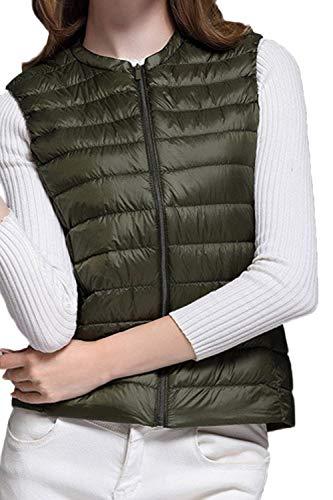 Rotondo Plus Fit Slim Gilet Cappotto Canottiera Verde Moda Leggero Collo Mode Marca Packable Di Eleganti Prodotto Invernali Piumino Donna Corto Autunno Smanicato iuPXOkZT