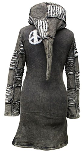 Gothique Long SHOPOHOLIC dcoup Femme Noir Manteau FASHION Emo dlav wc77IgOq1
