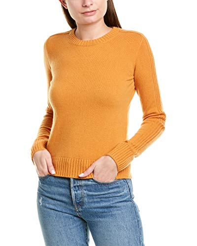 Vince Women's Runner Rib Cashmere Sweater, Sienna, Orange, Medium