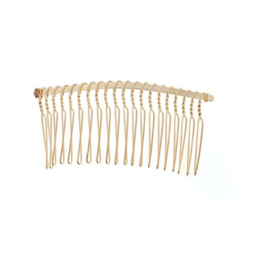 Olinisupply Metal Hair Combs (Large - 10 pcs , Yellow Gold)
