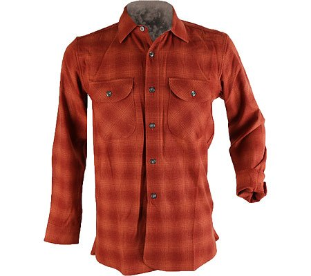 Pinwale Corduroy Shirt (Thomas K by Pendleton Men's Oliver Shirt, Copper Shadow Plaid,)