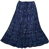 Mogul Interior Womens Long Skirt Pretty Paisley Floral Printed Gypsy Boho Beach Fashion Peasant Skirts