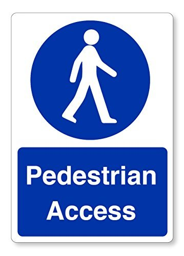hiusan 2 X A5 Pedestrian Access Stickers - Workplace Health & Safety Signs Business from hiusan
