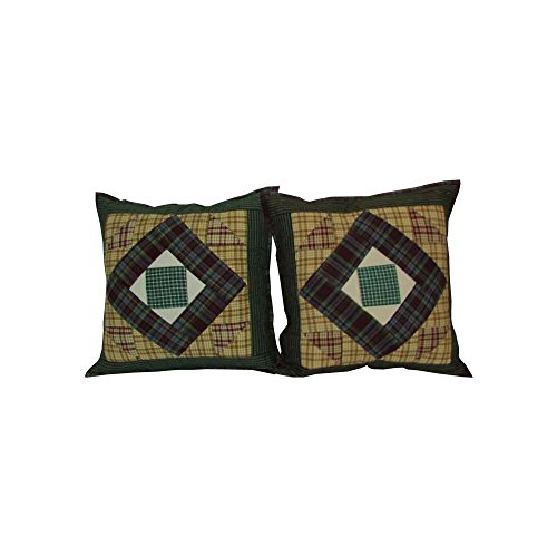 Patch Magic Square Diamond Toss Pillow, 16 by 16-Inch, Set of (Patch Magic Square Diamond)