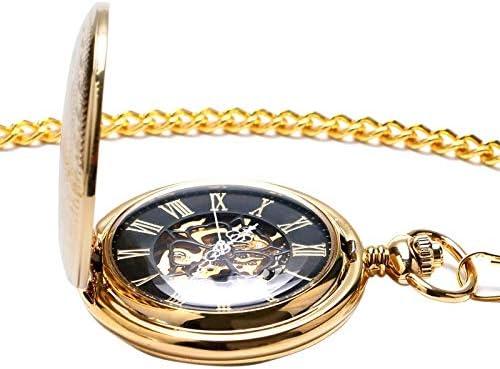 懐中時計、機械式懐中時計女性用クリスタルペンダントレディースガールズギフト手巻きナースウォッチチェーン付きプリティフラワーケース
