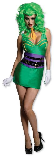 Secret Wishes DC Comics Super Villain Joker Costume, Green, Large