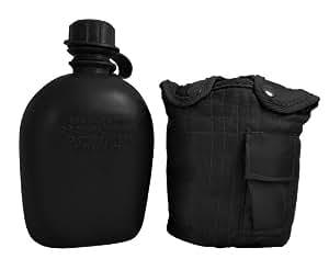 Fury Mustang G.I. Canteen, 1 Quart Plastic Body, Black