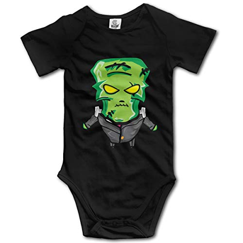 FRTSFLEE Happy Halloween Angry Zombies Baby Onesies Unisex Funny Short-Sleeve Toddler Clothes Cute Cotton Bodysuits -
