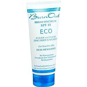 BurnOut Eco-sensitive Zinc Oxide Sunscreen SPF 35  3OZ.