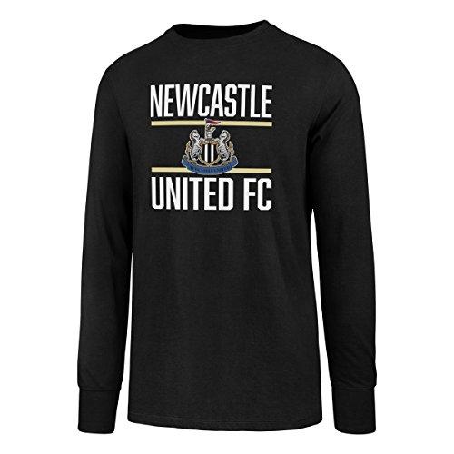 (EPL Newcastle United Men's Ots Rival Long sleeve Tee, Medium, Jet Black)