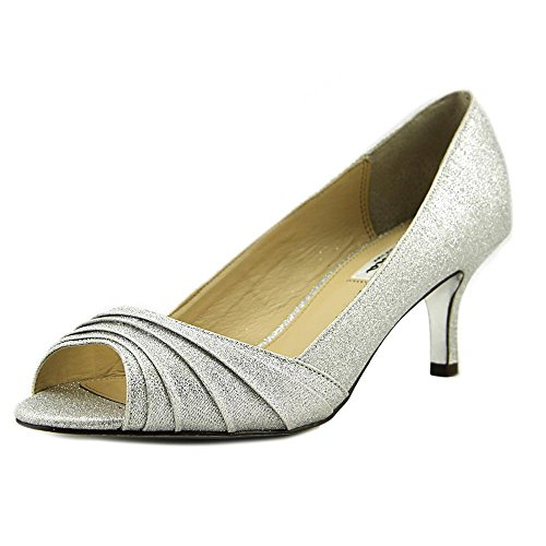 Classic Toe Womens Argento Fabric Wonderland Open Carolyn Pumps YS Nina WqBUwZ6w
