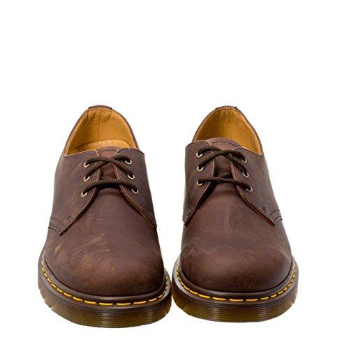 Martens Chaussures 1461 Gaucho Crazy Dr Cuir Marron Horse d6qd4
