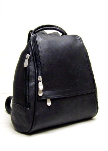 le-donne-leather-u-zip-mid-size-backpack-purse-black