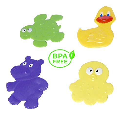 DINY Non-Slip Children's Bath Tub Applique with Suction Cup Bottom Combo 4 ()