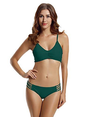 zeraca-Womens-Plus-Size-Strap-Side-Bottom-Halter-Racerback-Bikini-Bathing-Suits-FBA-X-Large-16-18-Everglade-Green