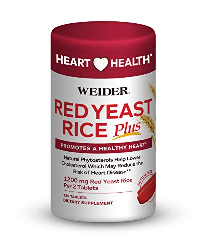 Cheap Weider Red Yeast Rice Plus 1200mg ♡ – with 850mg of Natural Phytosterols Help Lower Cholesterol- Promotes A Healthy Heart ♡ – Gluten Free – One Month Supply