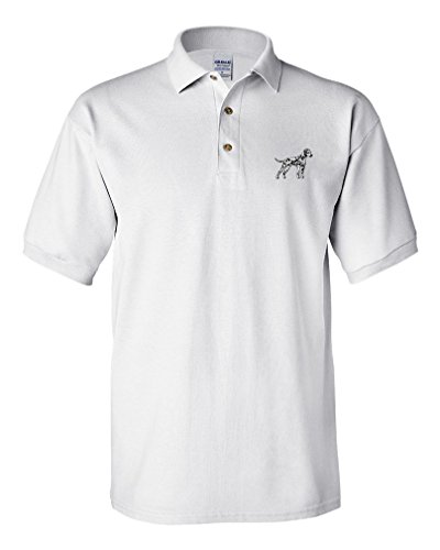 Embroidery Dalmatian (Dalmatian Embroidery Design Adult Cotton Short Sleeve Polo Shirt White 2X-Large)