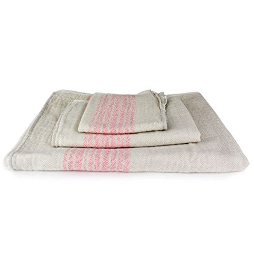 Kontex Organic Cotton Towels From Imabari, Japan - Pink/Beige (Set of 3 Towels) by IPPINKA
