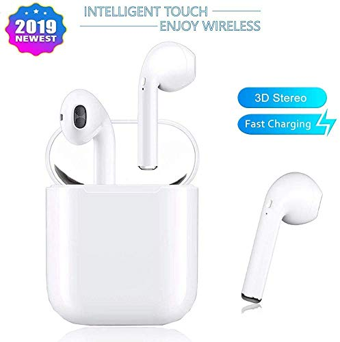 Bluetooth Headset Wireless Bluetooth Earbuds Stereo Headset Cordless Sports Headset Bluetooth in-Ear Headphones Built-in Microphone for Apple Airpods Android/iPhone