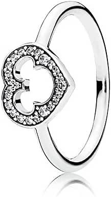 Pandora Disney, Mickey Silhouette Clear CZ 190957CZ Different Sizes Available (5)