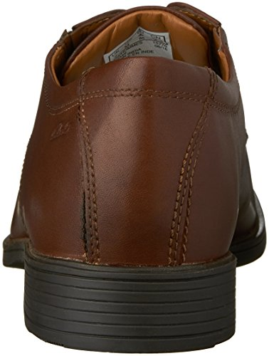 Clarks Mens Tilden Plain (new Color) Oxford Brown