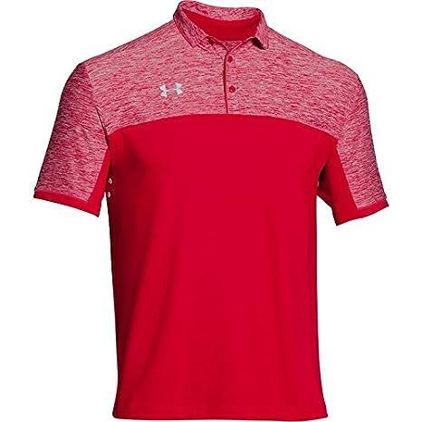 Under Armour pour homme Team Podium Polo de golf sur le dessus, couleurs assorties, 1276227 moyen bleu roi/blanc